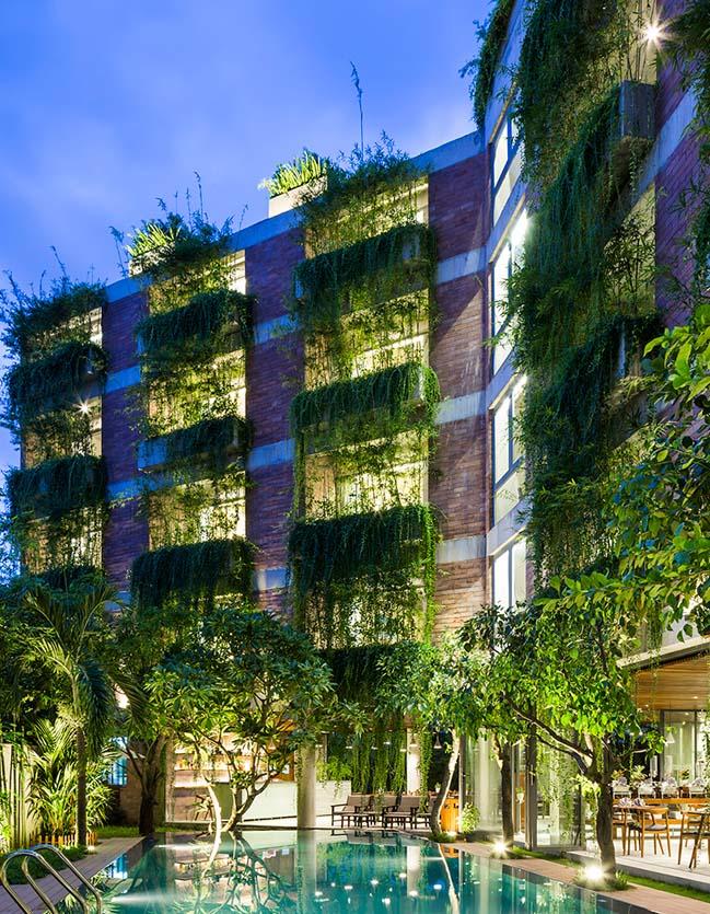 Kiến trúc khách sạn 5 tầng với thiết kế xanh tại Hội An
