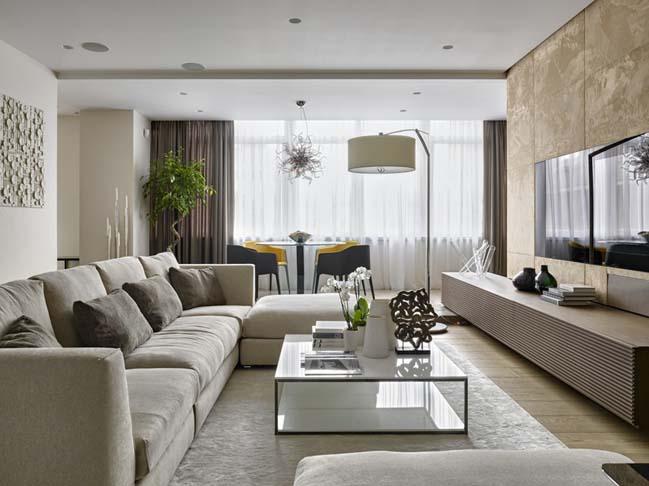 Mẫu phòng khách đẹp dành cho căn hộ chung cư