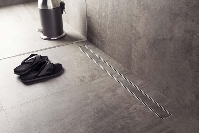 Những thiết kế rảnh thoát nước cho phòng tắm hiện đại