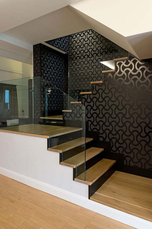 Mẫu biệt thự với thiết kế đương đại cùng tông màu trắng đen