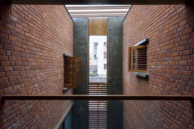 Mẫu nhà đẹp với kiến trúc bằng gạch ấm áp