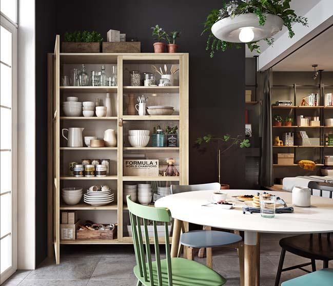 Mẫu căn hộ với thiết kế Scandinavia cùng mảng đen lạ mắt