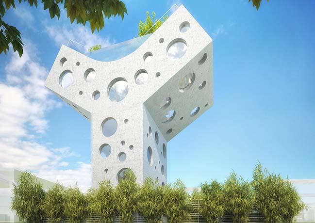Ngôi nhà đẹp với kiến trúc chữ Y độc đáo