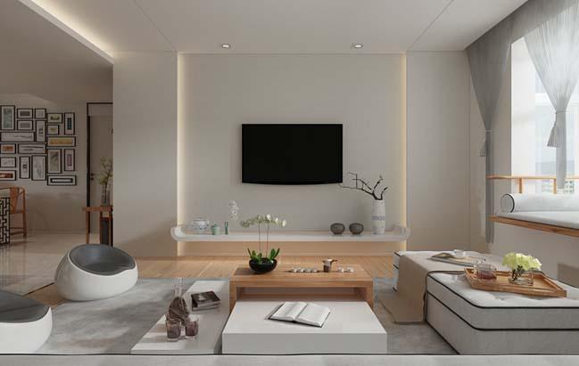 Căn hộ  hiện đại với thiết kế Á Đông cùng cảm giác thư giãn