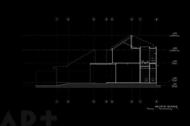 Mẫu nhà song lập với thiết kế nửa mái