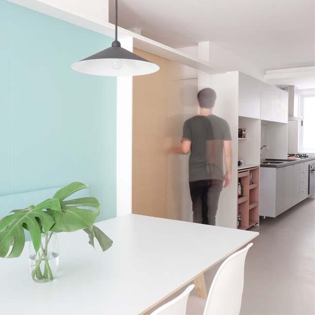 Mẫu căn hộ 80m2 với những tông màu pastel xinh xắn