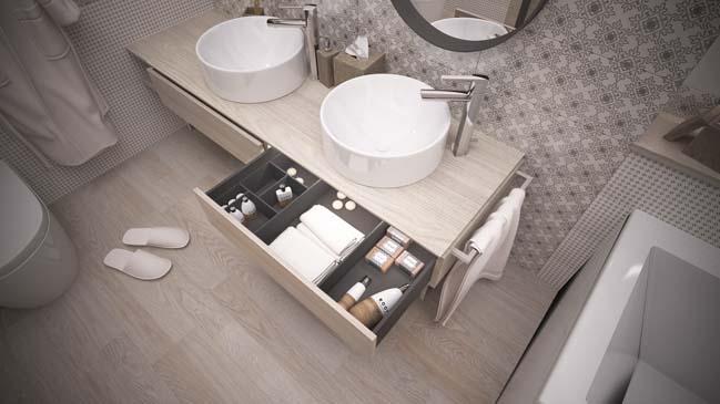 Mẫu phòng tắm đẹp với tông màu trắng hiện đại