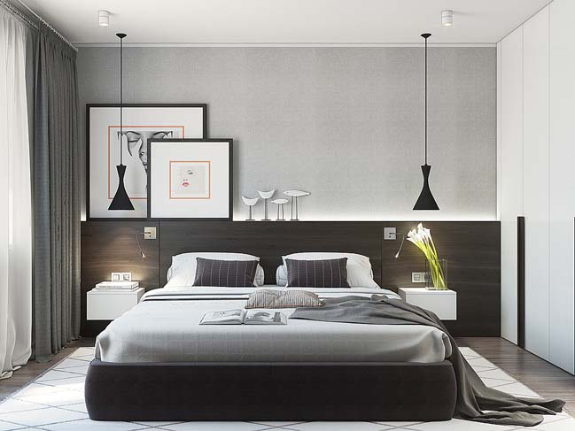 Thiết kế sang trọng cho căn hộ cao cấp 1 phòng ngủ
