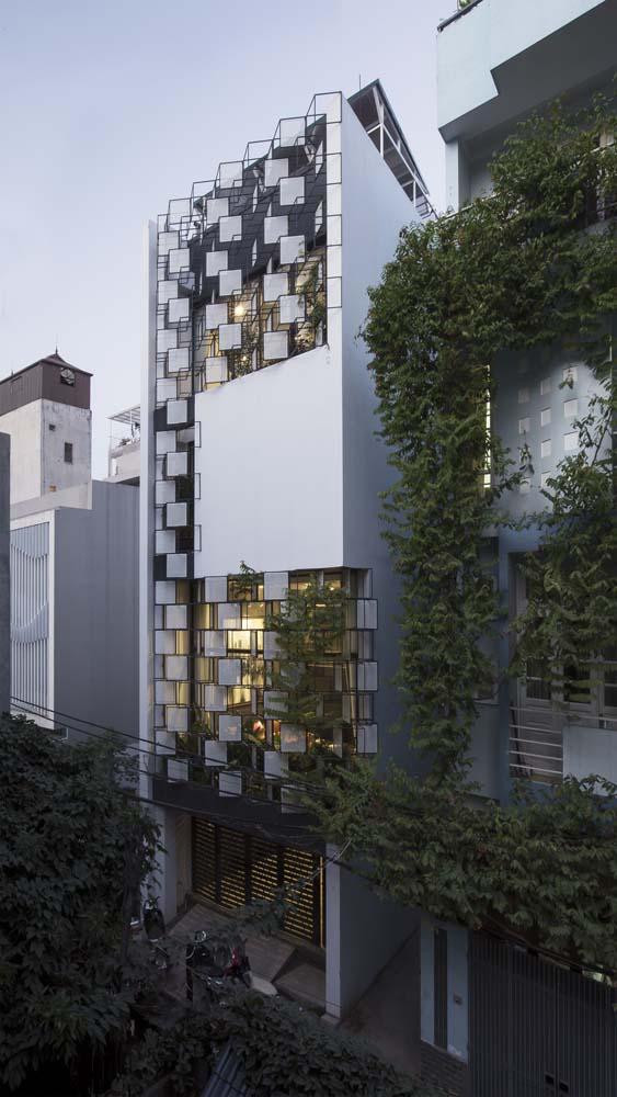 Mẫu nhà phố đẹp với thiết kế phá cách tại Hà Nội