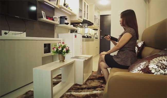 Say mê với thiết kế căn hộ chung cư nhỏ 18m2
