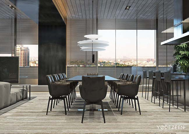 Mẫu duplex penthouse lấy cảm hứng từ rừng nhiệt đới