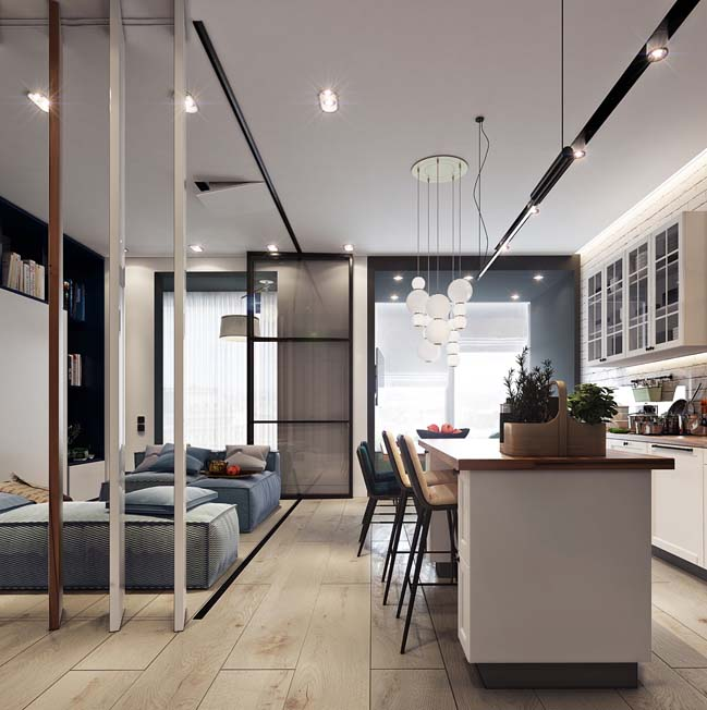 Mẫu căn hộ chung cư 50m2