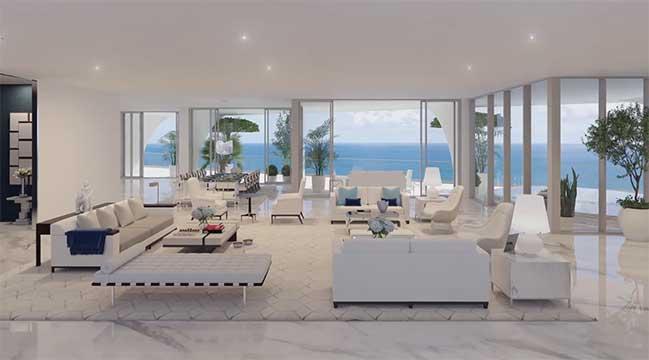 Trải nghiệm cuộc sống xa hoa bên trong căn hộ penthouse tại Miami