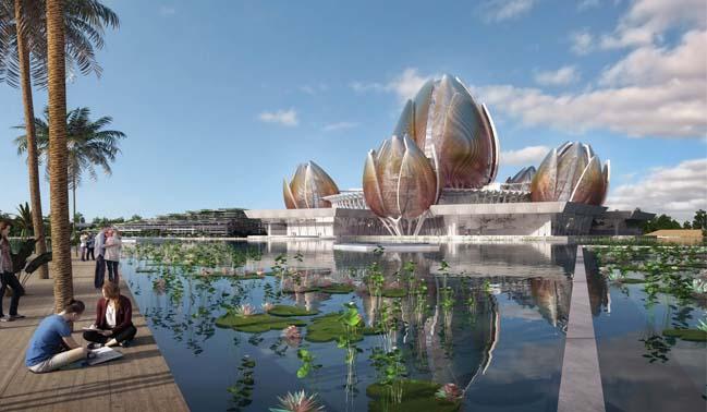 Thiết kế kiến trúc Trung Tâm Hoa Sen tại Hà Nội