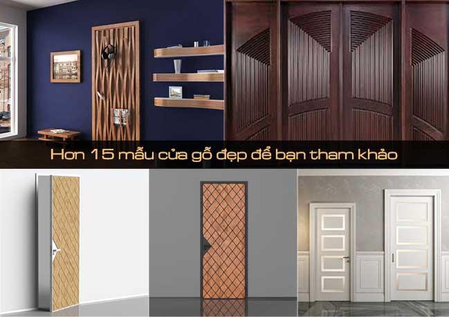 Hơn 15 mẫu cửa gỗ đẹp để bạn tham khảo