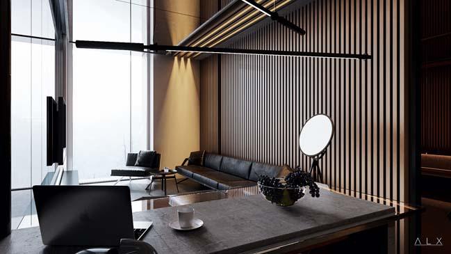 Thiết kế nội thất sang trọng cho căn hộ 50m2