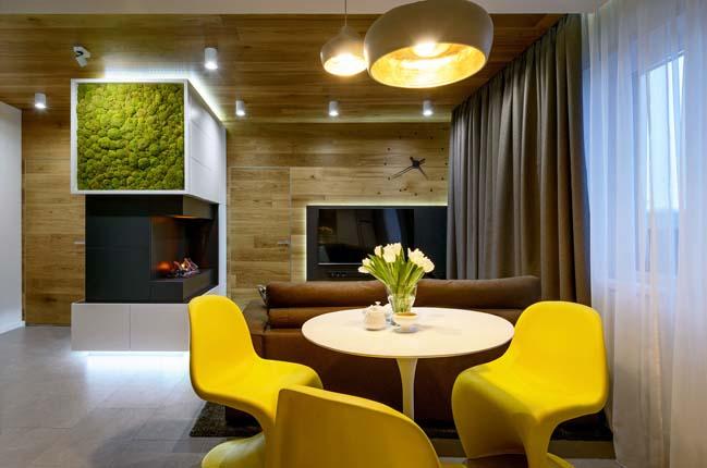 Mẫu nội thất ấm cúng cho căn hộ chung cư 61m2