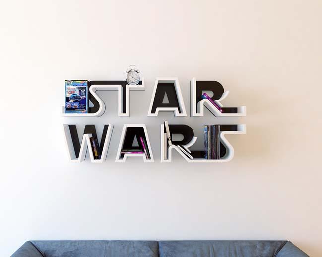 Mẫu kệ trang trí lấy cảm hứng từ logo của bộ phim Star Wars - Chiến tranh giữa các vì sao