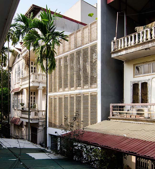 Ngôi nhà phố đẹp 4 tầng mộc mạc tại Hà Nội