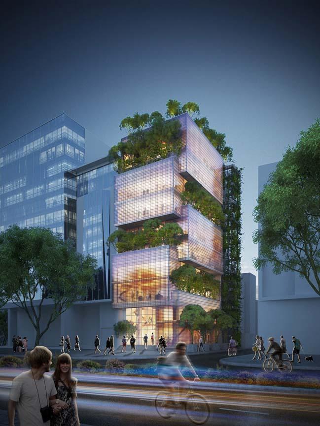 Kiến trúc xanh tòa nhà văn phòng Nanoco tại Tp.HCM