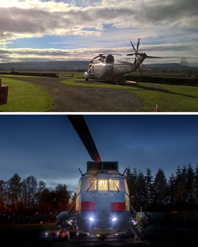 Biến chiếc trực thăng thành phòng khách sạn độc đáo