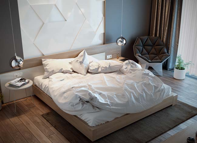 Mẫu phòng ngủ đẹp hiện đại 2017