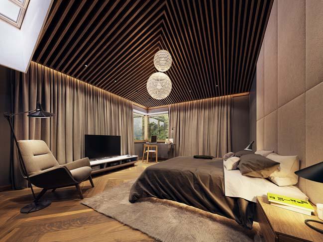 Thiết kế biệt thự đẹp với tông màu của thiên nhiên