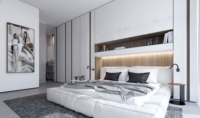Mẫu thiết kế phòng ngủ đẹp màu trắng 2017