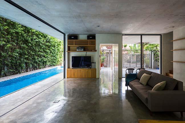 Mẫu biệt thự đẹp với kiến trúc bê tông và tràn ngập cây xanh