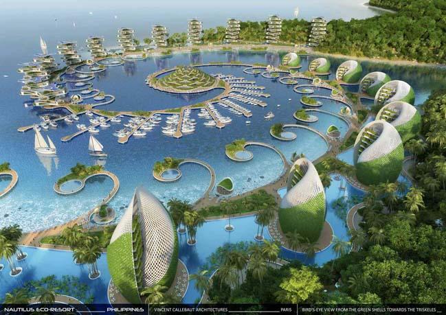 Thiết kế khách sạn với kiến trúc xanh hình xoắn ốc