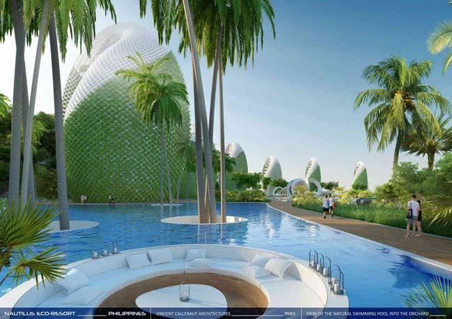 Thiết kế khách sạn với kiến trúc xanh hình xoắn ốc của Vincent Callebaut