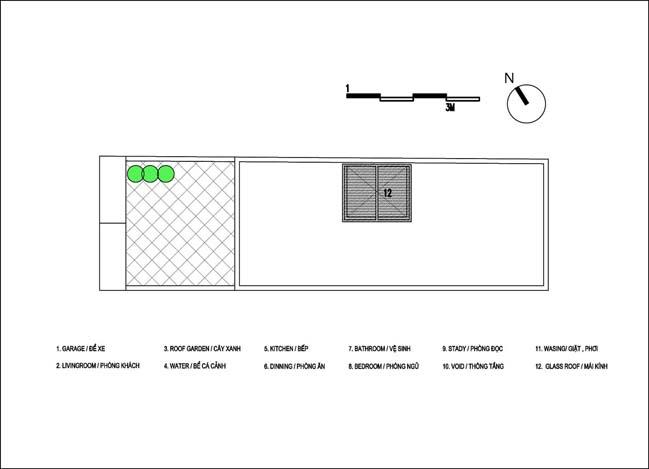 Mẫu thiết kế đẹp cho nhà ống có diện tích 4x13m