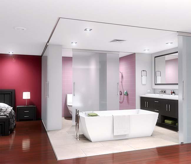 Mẫu phòng tắm kính đẹp 2017