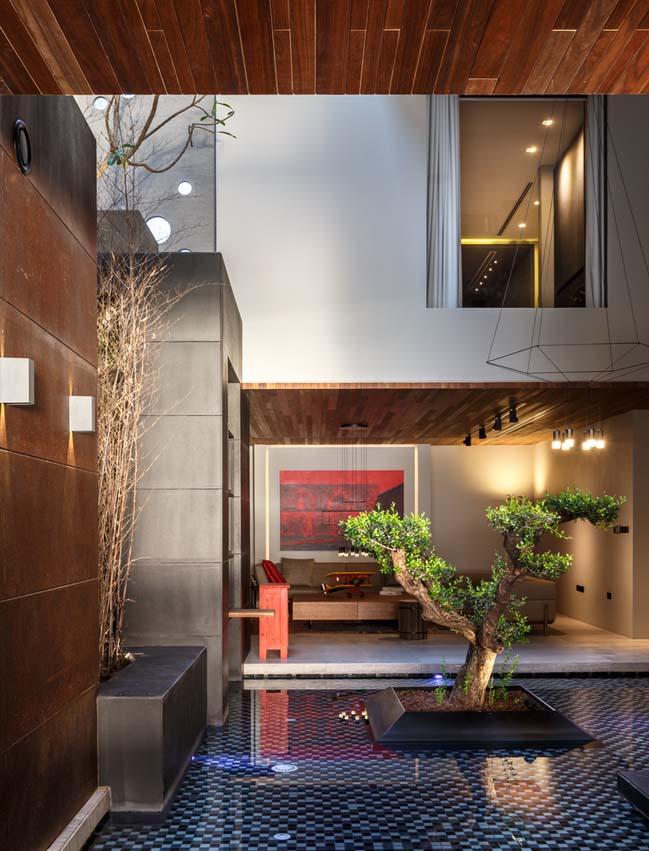 Mẫu biệt thự đẹp 3 tầng với kiến trúc mở hiện đại
