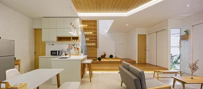 Mẫu biệt thự đẹp 2 tầng với thiết kế khu vườn bay