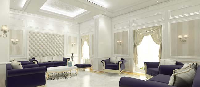Mẫu phòng khách đẹp với thiết kế cổ điển 2017