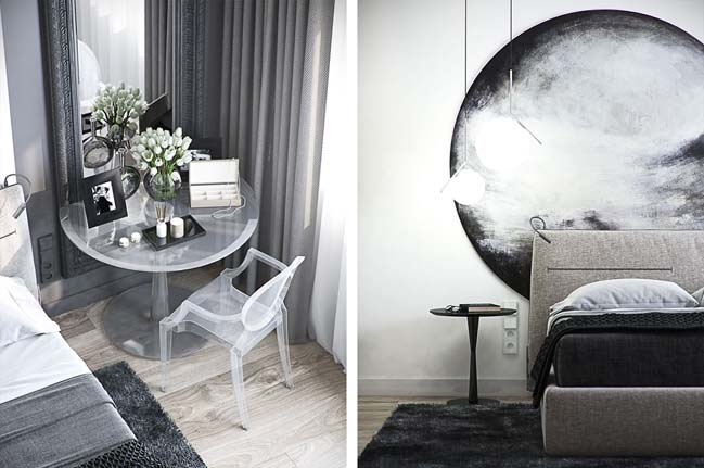 Mẫu thiết kế tham khảo cho căn hộ 1 phòng ngủ 58m2