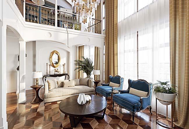 Mẫu nhà đẹp 2 tầng với phong cách cổ điển Châu Âu sang trọng