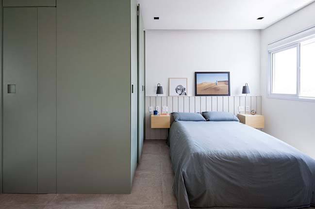 Căn hộ nhỏ 32m2 với phòng ngủ ẩn sau bức tường