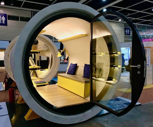Mẫu thiết kế nhà đẹp được xây dựng từ ống cống