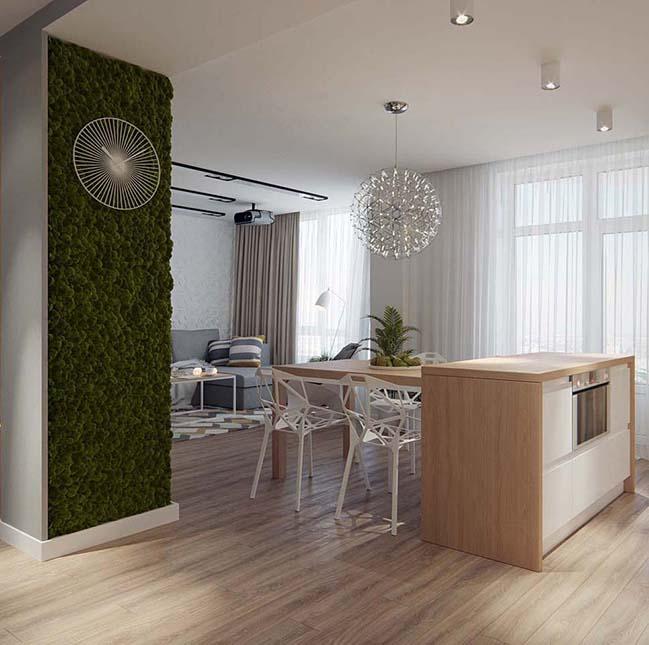 Thiết kế nội thất căn hộ với họa tiết hình học