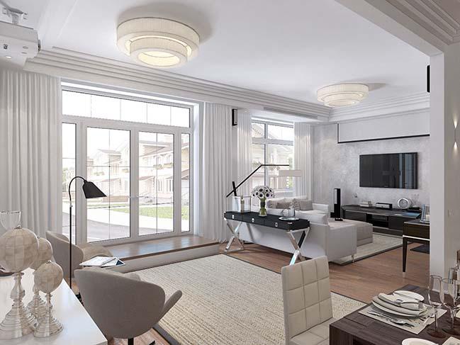 Thiết kế nhà phố đẹp sang trọng với phong cách Art Deco