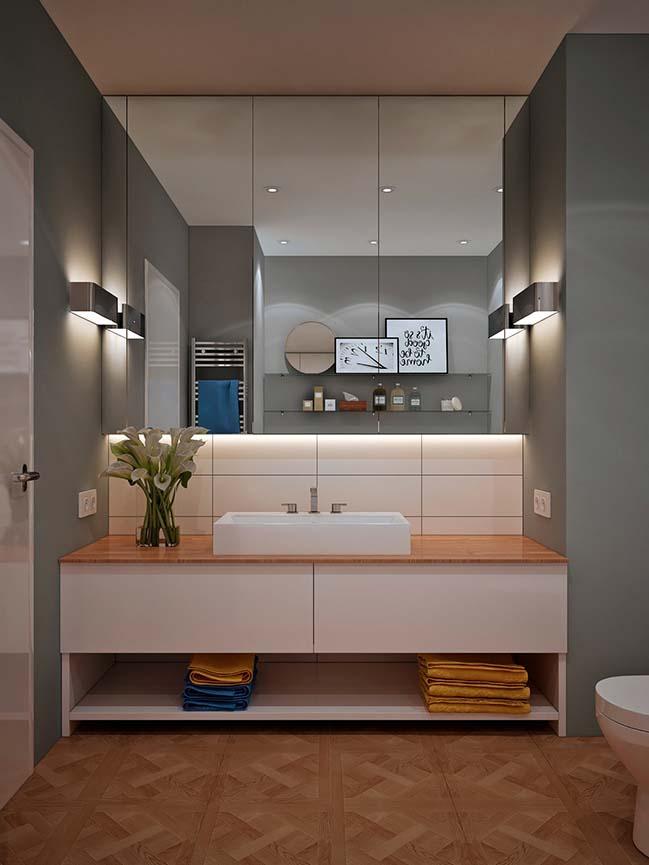 Mẫu thiết kế phòng tắm đẹp phong cách hiện đại 2018