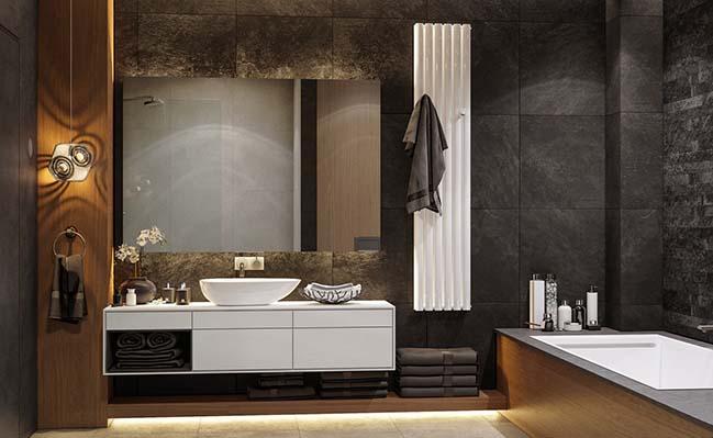 20+ mẫu thiết kế phòng tắm đẹp phong cách hiện đại 2018