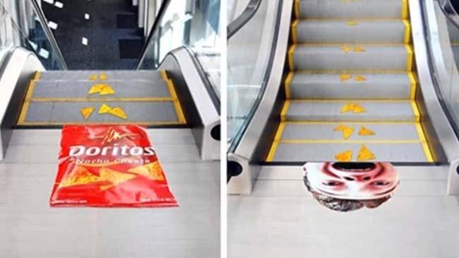 Ý tưởng quảng cáo độc đáo trên chiếc cầu thang cuốn