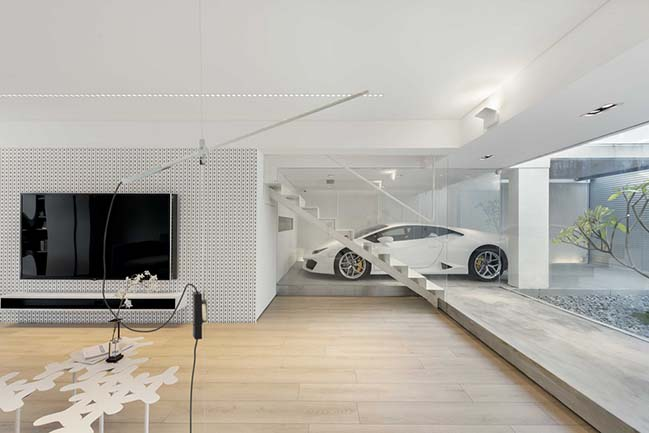 Mẫu biệt thự đẹp với garage kính trong suốt