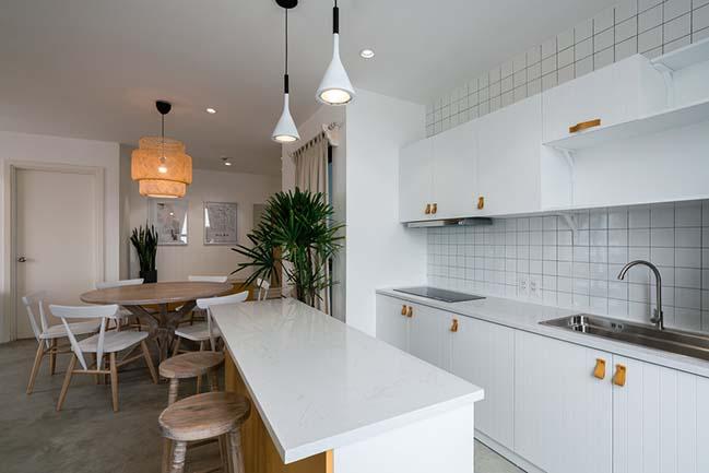 Thiết kế nội thất căn hộ với điểm nhấn màu vàng tại Q.7