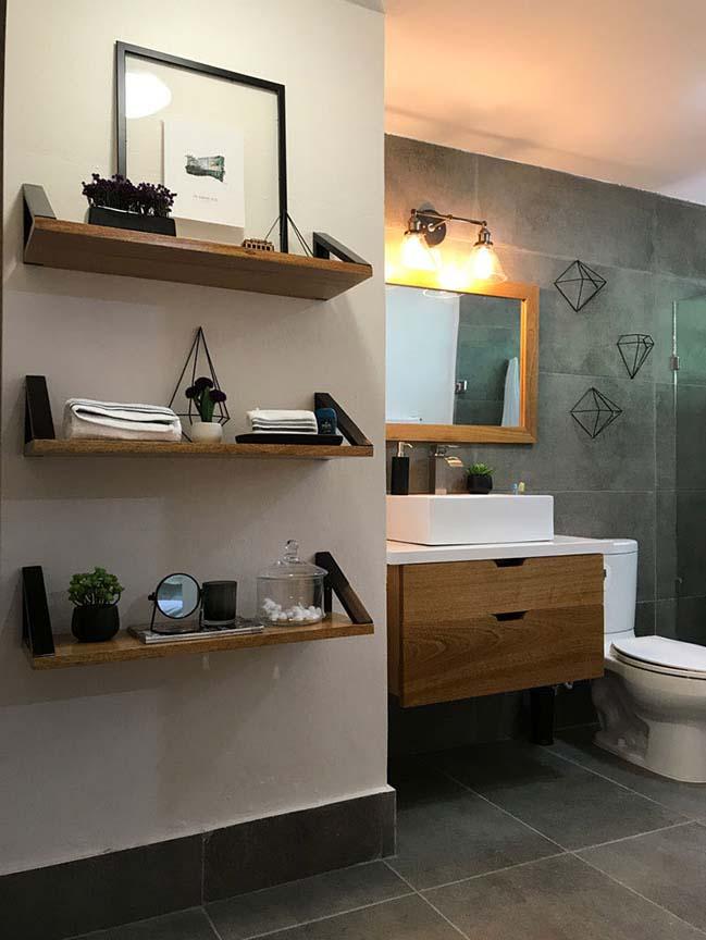 Mẫu phòng tắm cũ lột xác sau khi được cải tạo