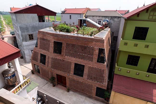 Thiết kế nhà đẹp với cấu trúc như cái Hang gạch tại Hà Nội