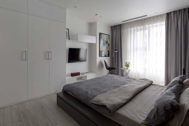 Nội thất trắng đen cho căn hộ 100m2 tại Hà Nội